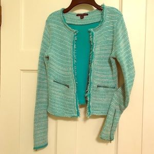 Shabby Chic Green/White Cardigan